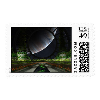 The Gardener Postage Stamp