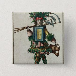 The Gardener's Costume Pinback Button