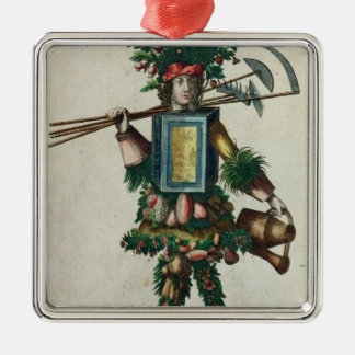 The Gardener's Costume Square Metal Christmas Ornament