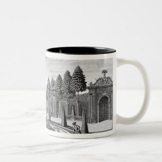 The gardens of Count Althan, Vienna, from 'Vorstel Two-Tone Coffee Mug