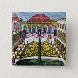The Gardens of the Mirabelle Park, Salzburg, Austr Button
