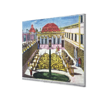 The Gardens of the Mirabelle Park, Salzburg, Austr Canvas Print
