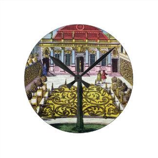 The Gardens of the Mirabelle Park, Salzburg, Austr Round Clock