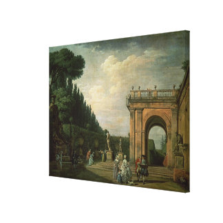 The Gardens of the Villa Ludovisi, Rome, 1749 Gallery Wrapped Canvas