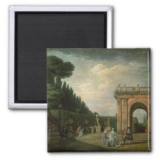 The Gardens of the Villa Ludovisi, Rome, 1749 Magnet