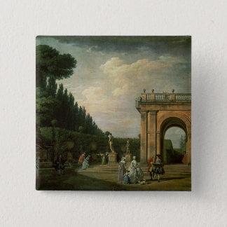 The Gardens of the Villa Ludovisi, Rome, 1749 Pinback Button