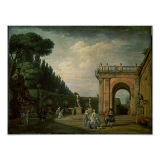 The Gardens of the Villa Ludovisi, Rome, 1749 Poster