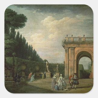 The Gardens of the Villa Ludovisi, Rome, 1749 Square Stickers