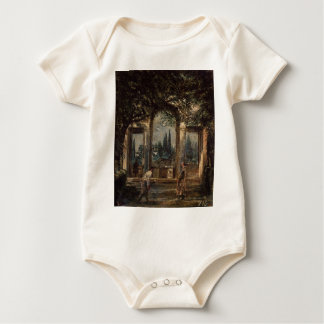 The Gardens of the Villa Medici in Rome by Diego Baby Bodysuit