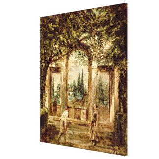 The Gardens of the Villa Medici in Rome Canvas Print