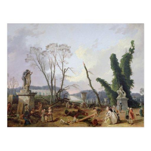 The Gardens of Versailles Postcard