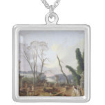 The Gardens of Versailles Square Pendant Necklace