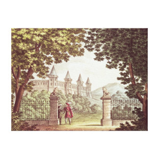 The Gardens of Windsor Castle Canvas Print