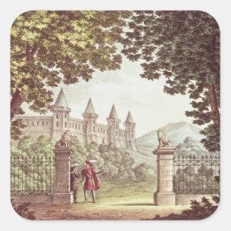 The Gardens of Windsor Castle Square Sticker