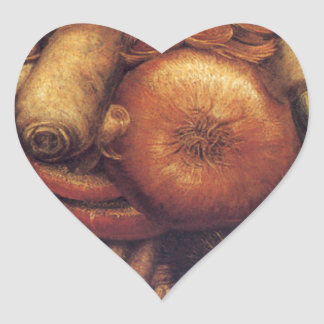 The Gardner by Giuseppe Arcimboldo Heart Sticker