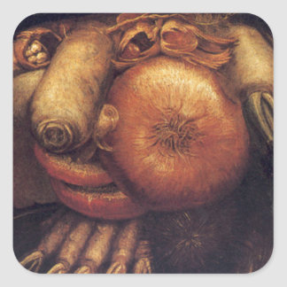 The Gardner by Giuseppe Arcimboldo Square Sticker