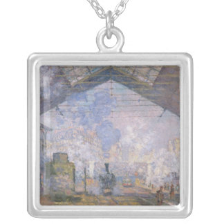 The Gare St. Lazare, 1877 Personalized Necklace