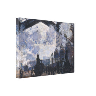 The gare St Lazare by Claude Monet Canvas Print