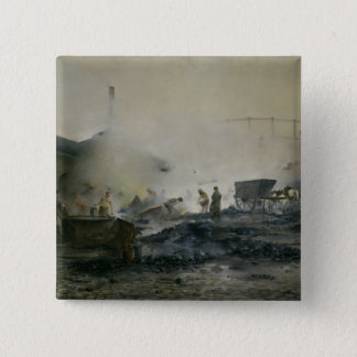 The Gas Factory at Courcelles, 1884 Pinback Button
