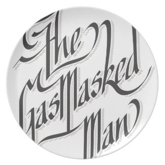 The Gas Masked Man Party Plates