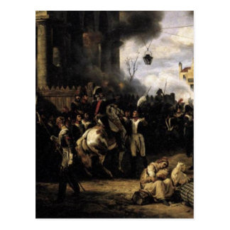 The Gate at Clichy by Horace Vernet Postcard