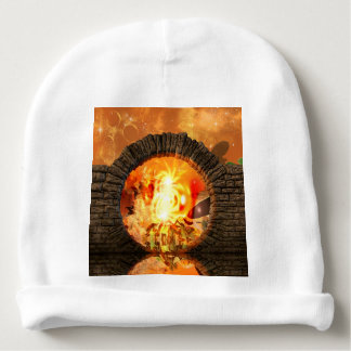The gate into another fantasy world baby beanie