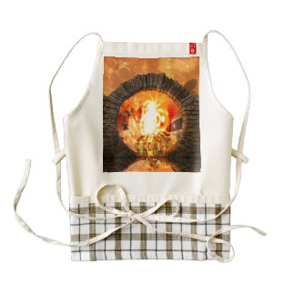 The gate into another fantasy world zazzle HEART apron