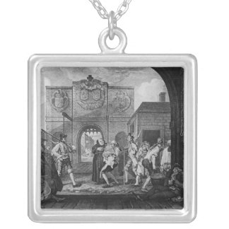 The Gate of Calais, or O The Roast Beef Silver Plated Necklace