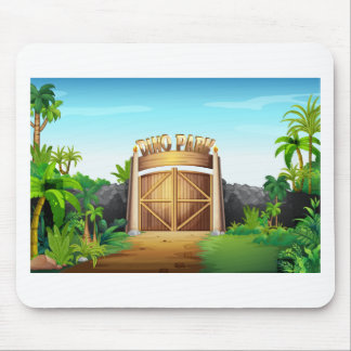 The gate of dino park mouse pad