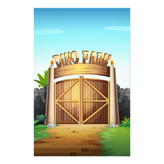 The gate of dino park stationery