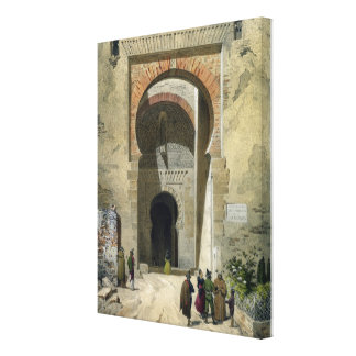 The Gate of Justice, entrance to the Alhambra, Gra Canvas Print
