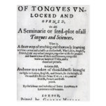 The Gate of Tongues Unlocked', 1631 Postcard