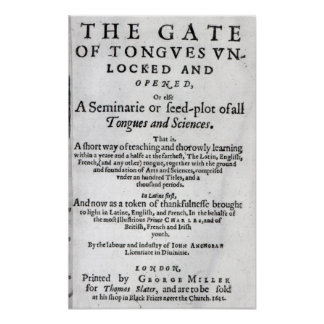 The Gate of Tongues Unlocked', 1631 Poster