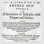 The Gate of Tongues Unlocked', 1631 Stickers