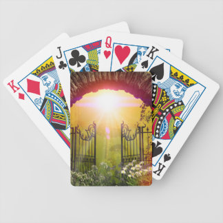 The gate to the land of dreams bicycle playing cards