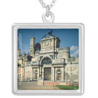 The gatehouse square pendant necklace