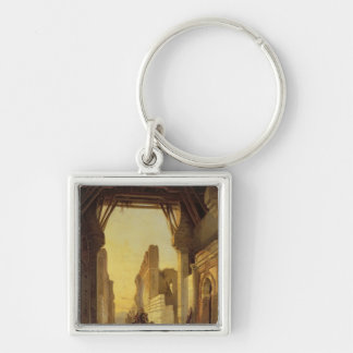 The Gates of El Geber in Morocco Silver-Colored Square Keychain