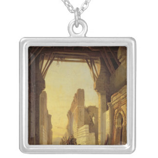 The Gates of El Geber in Morocco Square Pendant Necklace