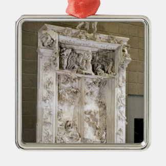 The Gates of Hell Square Metal Christmas Ornament