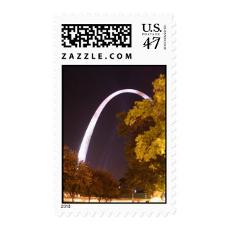 The Gateway Arch at Night Postage