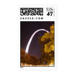 The Gateway Arch at Night Postage Stamp
