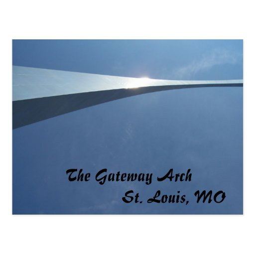 The Gateway Arch in St. Louis, MO Postcard