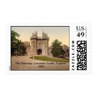 The Gateway, Lancaster Castle, England 1905 Postage