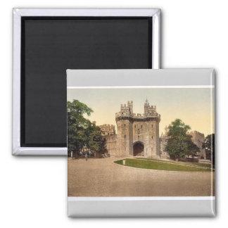 The gateway, Lancaster Castle, England classic Pho Magnet