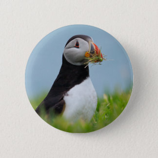 The Gatherer Puffin Pinback Button