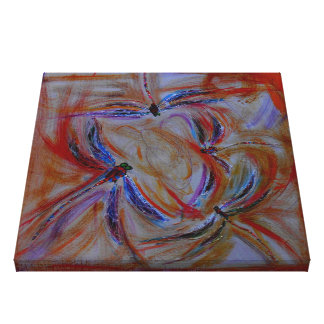 the gathering abstract dragonflies canvas