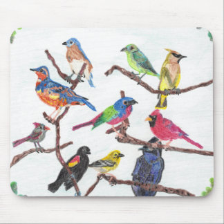 The Gathering Colorful Songbirds Mousepad