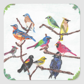 The Gathering Colorful Songbirds Stickers