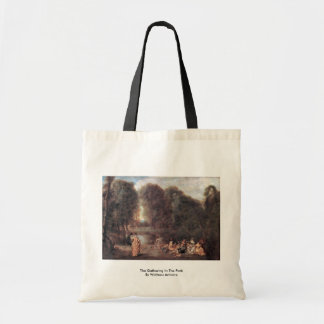 The Gathering In The Park By Watteau Antoine Budget Tote Bag