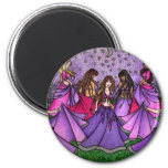 The Gathering of Belly Dancers in Purple Refrigerator Magnet